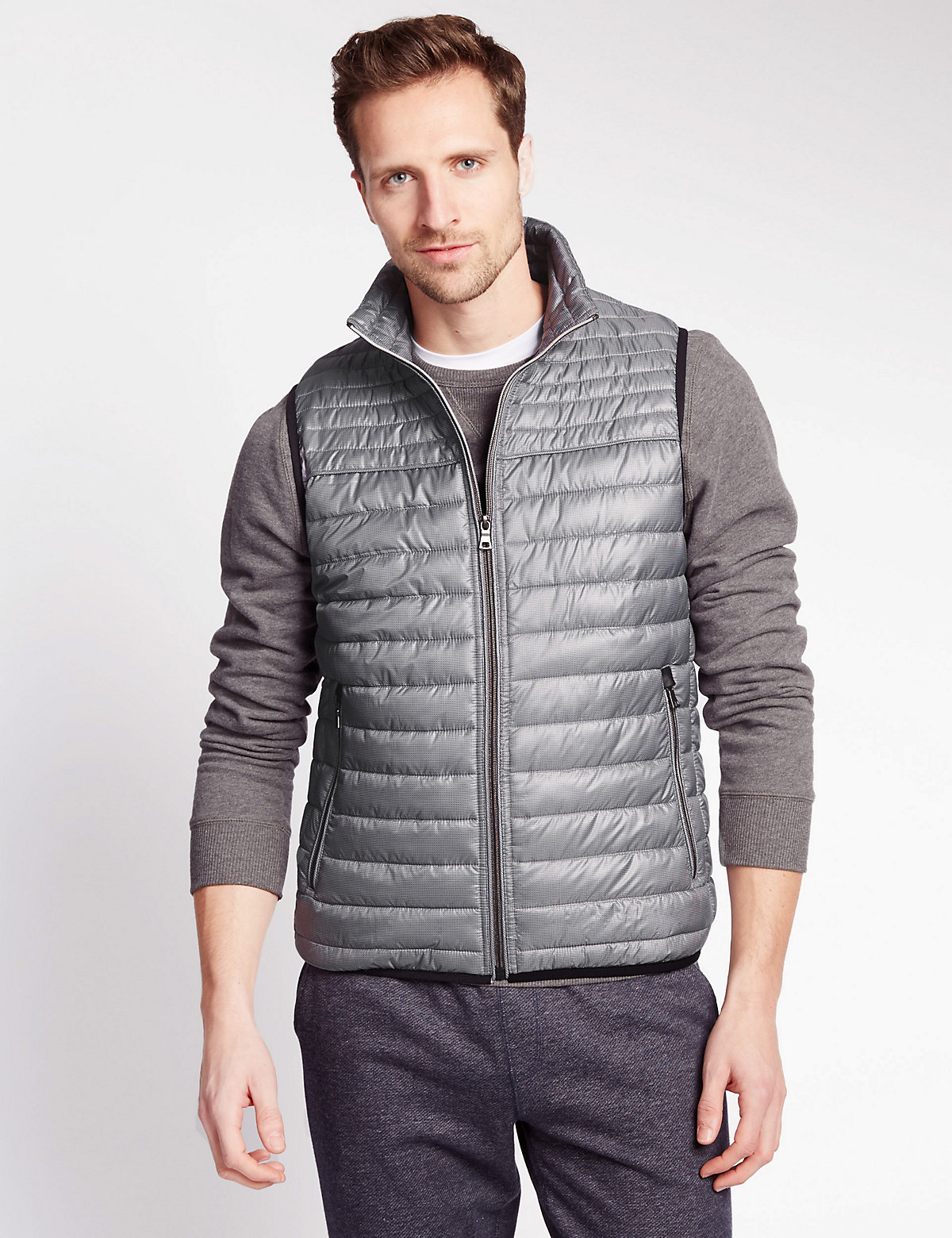 Image of M&S Collection Lightweight Quilted Gilet with Stormwear