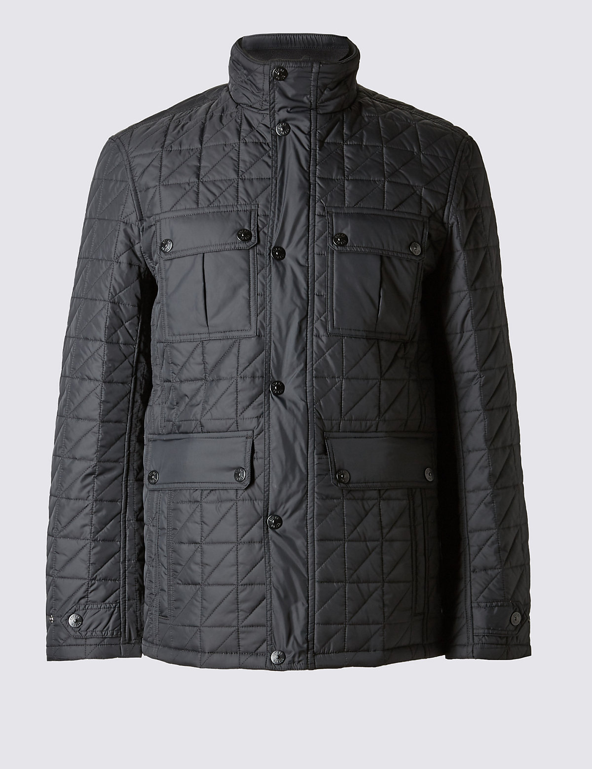 Image of M&S Collection Quilted Jacket with Stormwear