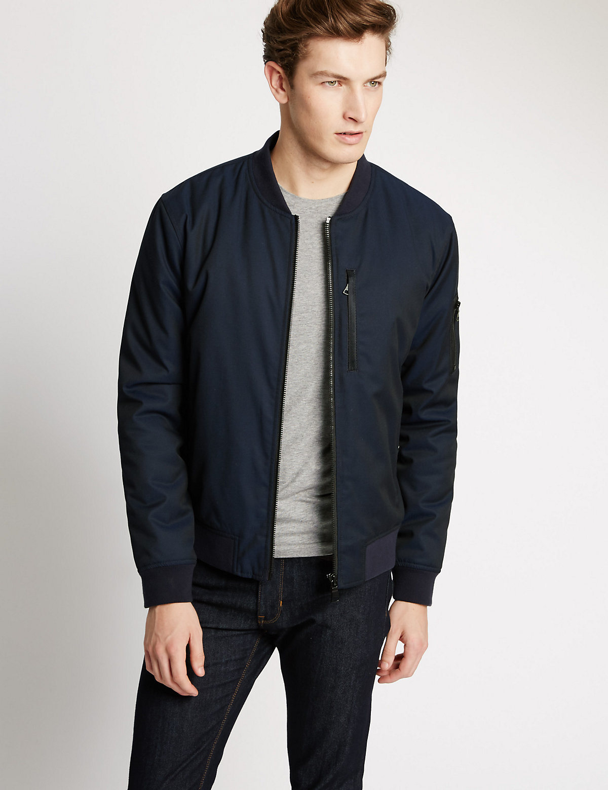 Image of Limited Edition Tailored Fit Wadded Bomber Jacket