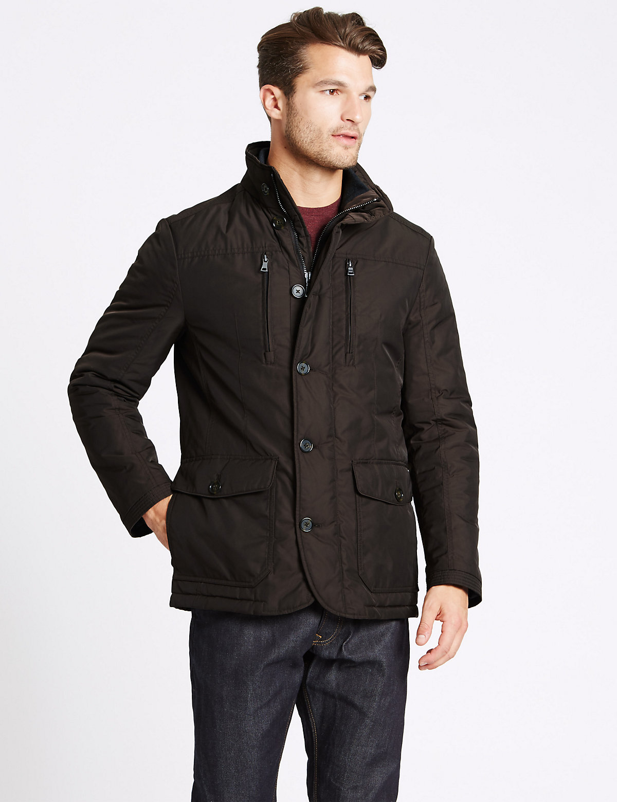 M&S Collection Jacket with Stormwear & Thinsulate