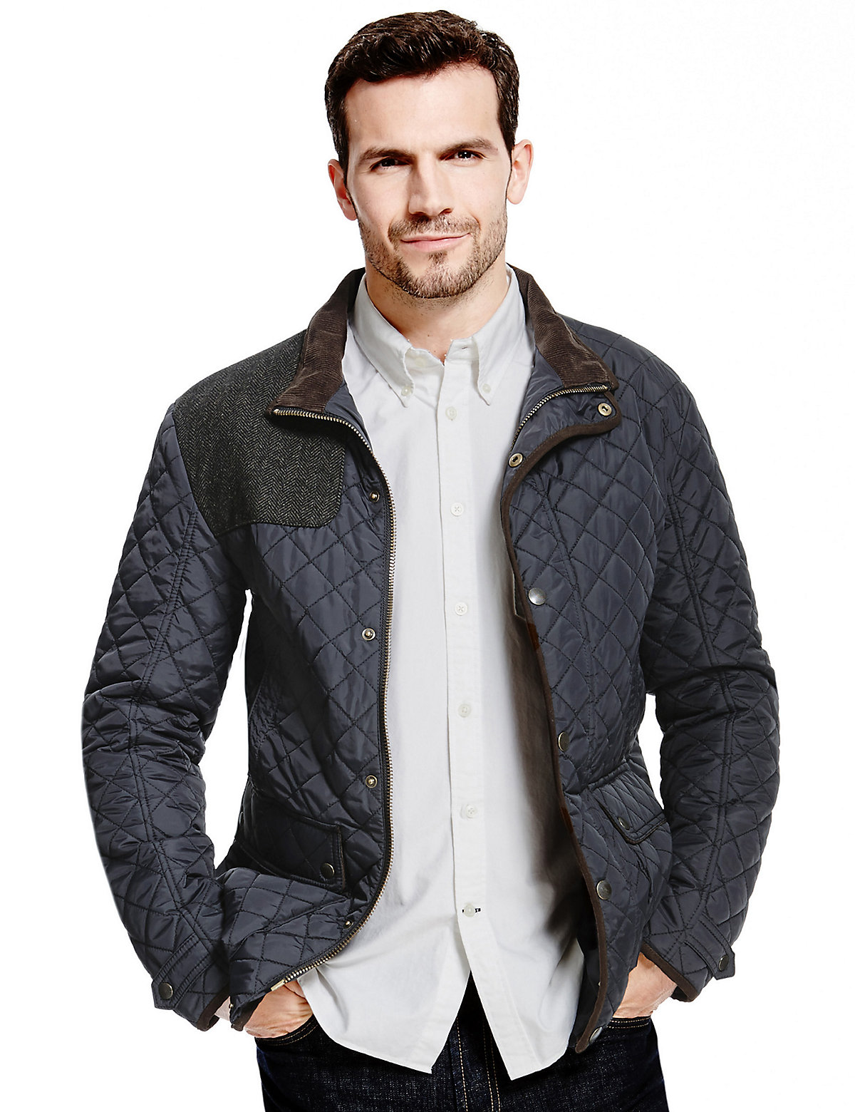 Blue Harbour Slim Fit Water Resistant Quilted Jacket with Stormwear | Coat, Jacket and Clothing