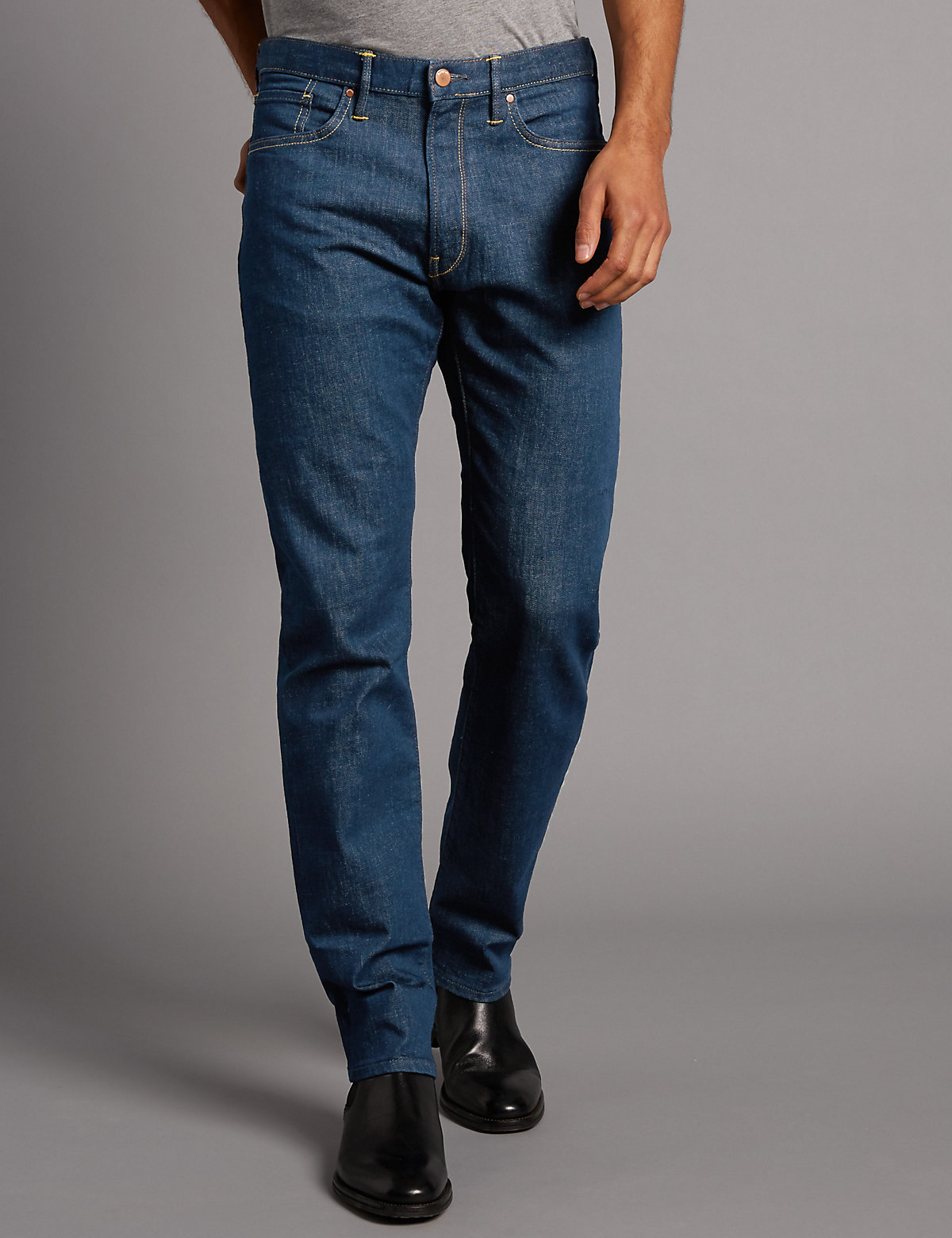 Image of Autograph Straight Fit Tinted Stretch Jeans