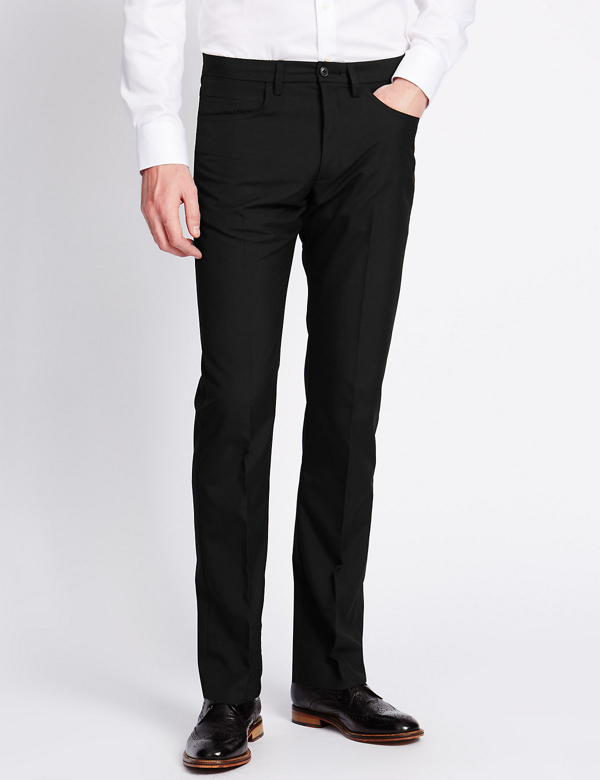 M&S Collection Slim Fit 5 Pocket Trousers