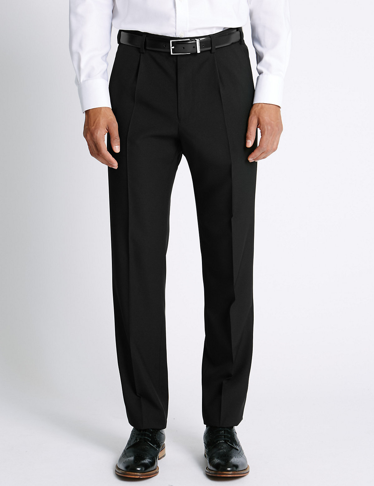 Image of M&S Collection Luxury Big & Tall Single Pleat Trousers