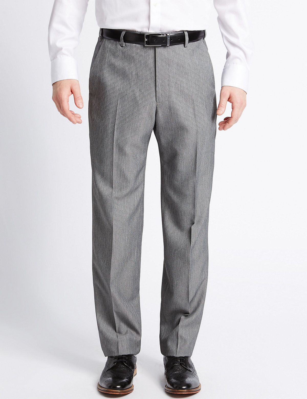 M&S Collection Textured Trousers
