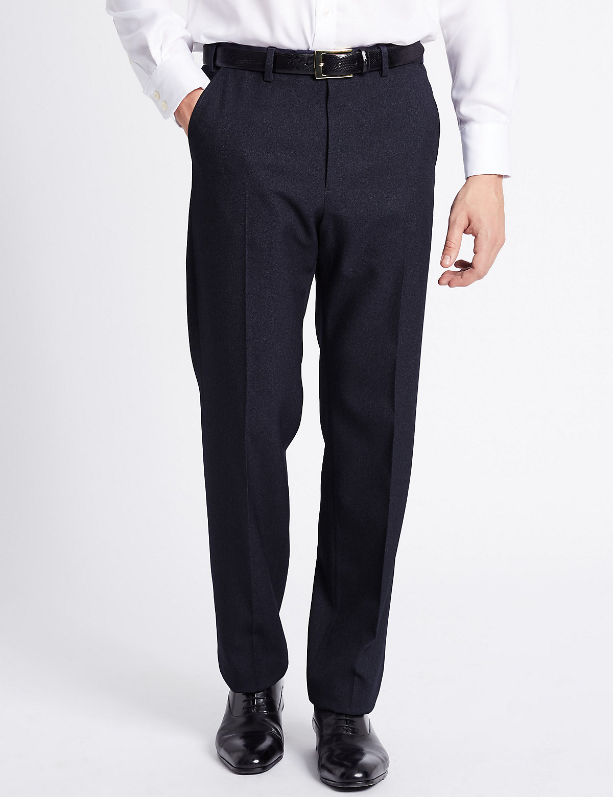 M&S Collection Big & Tall Regular Fit Flat Front Trousers
