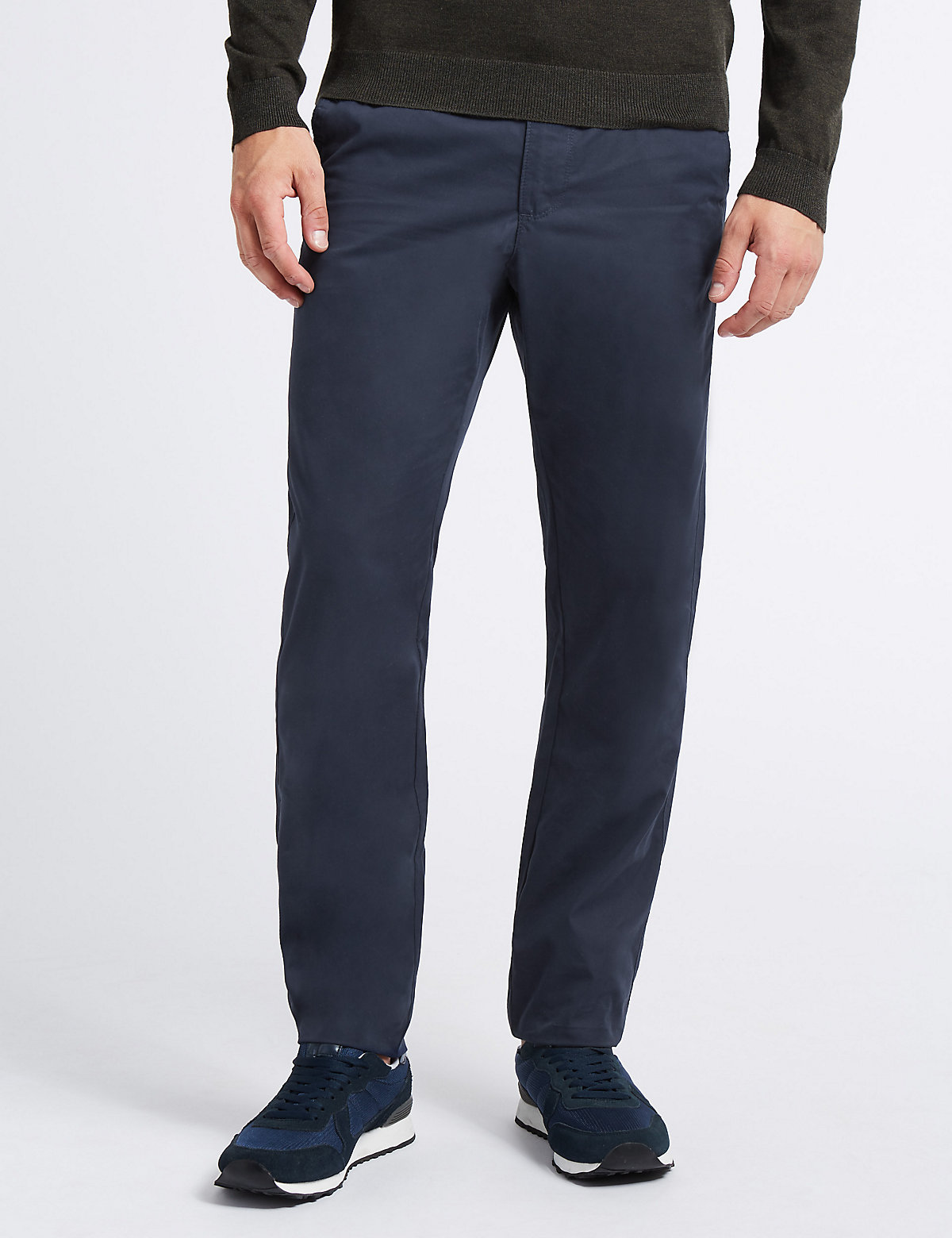 M&S Collection Cotton Rich Slim Fit Chinos