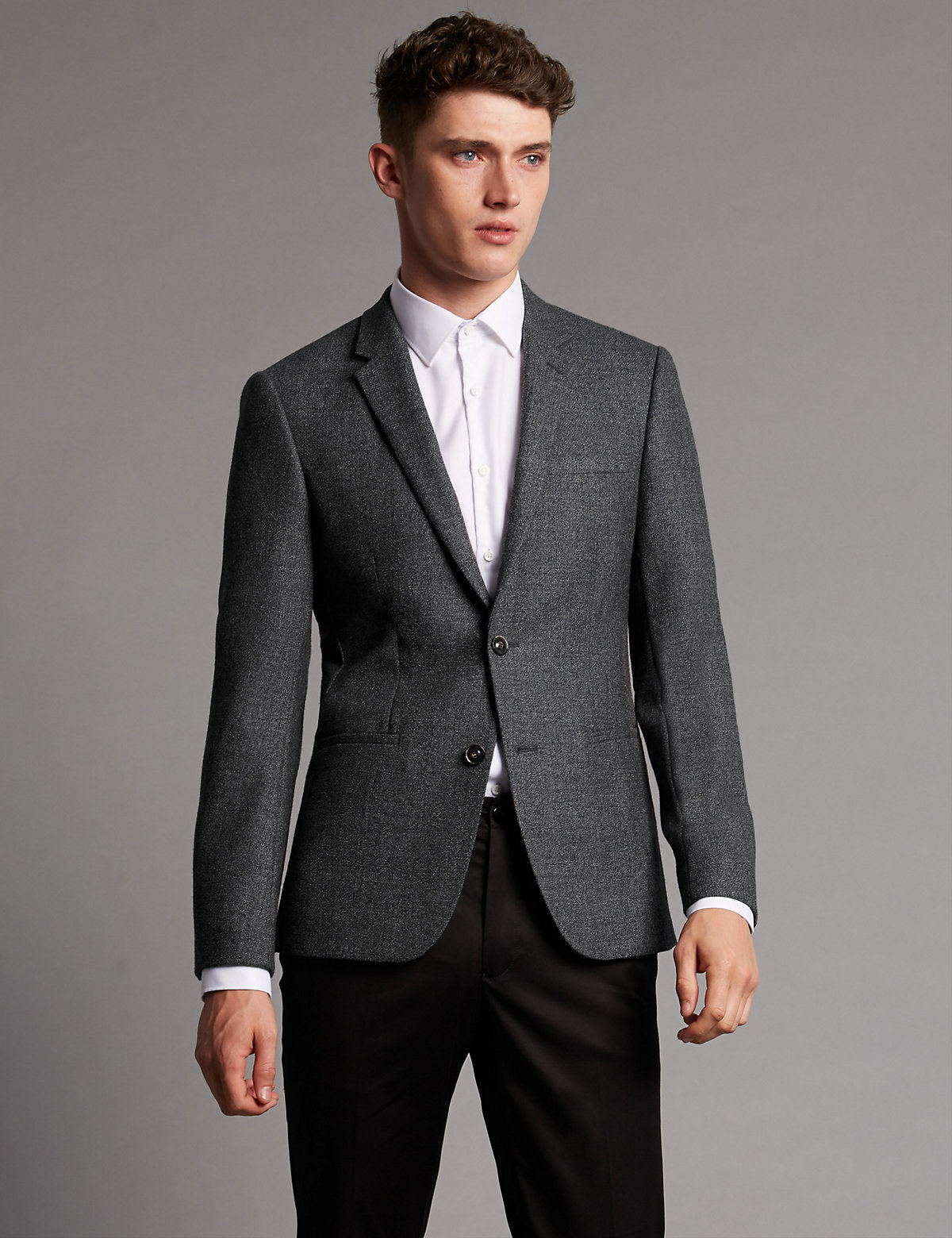Image of Autograph Pure Wool Tailored Fit 2 Button Jacket