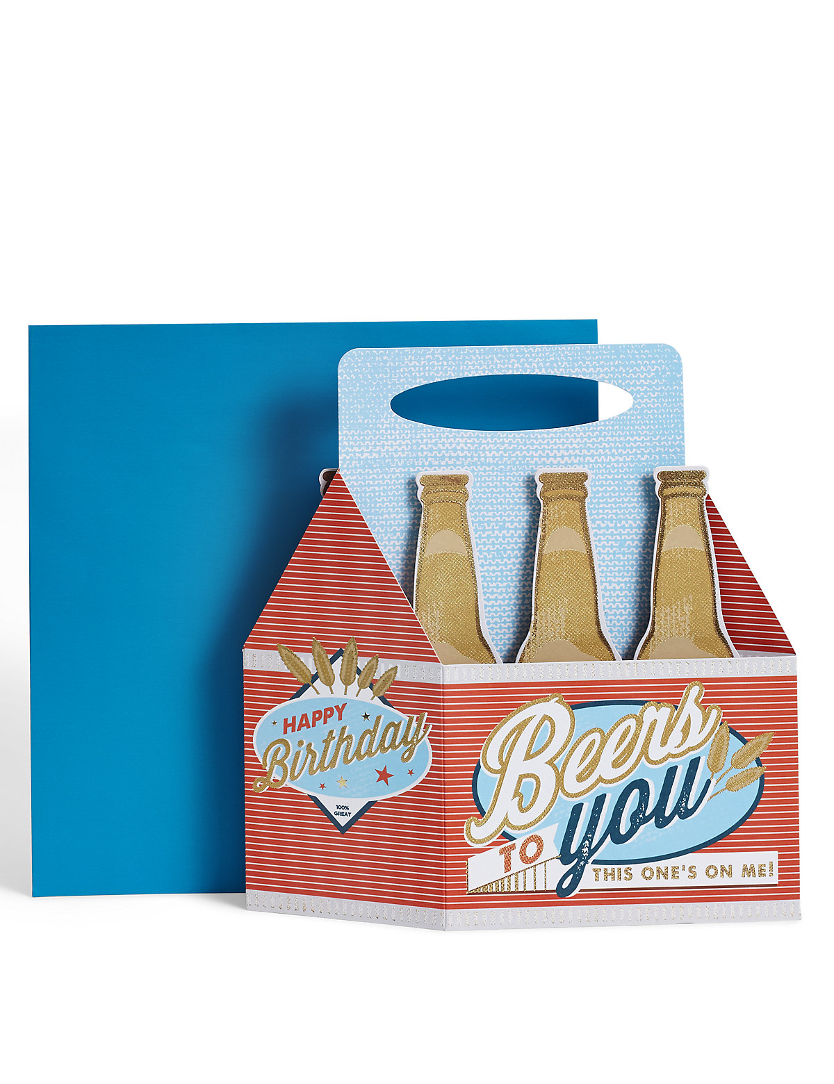 3-D Pop up Beer Crate Birthday Card