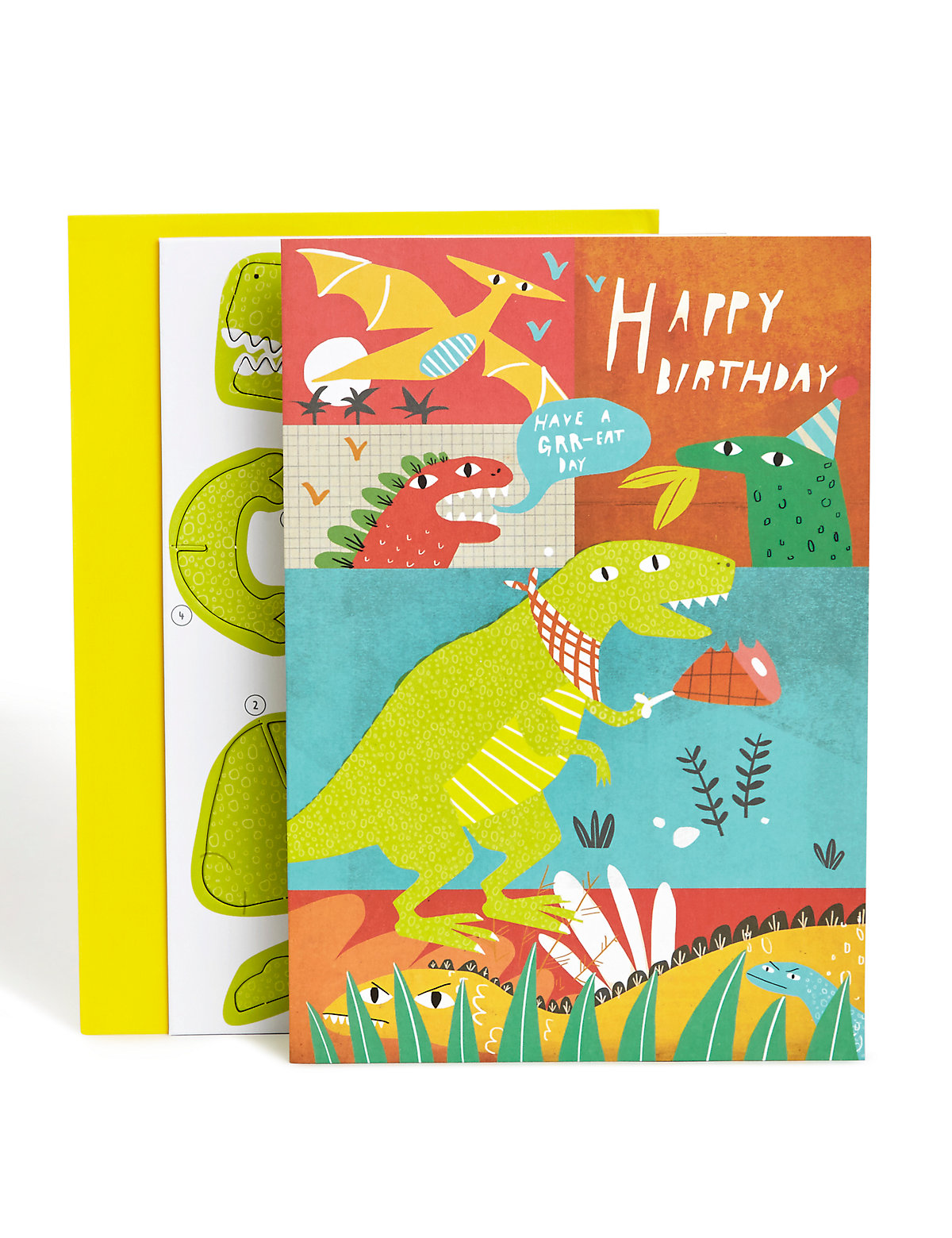 Build Your Own Dinosaur Birthday Card