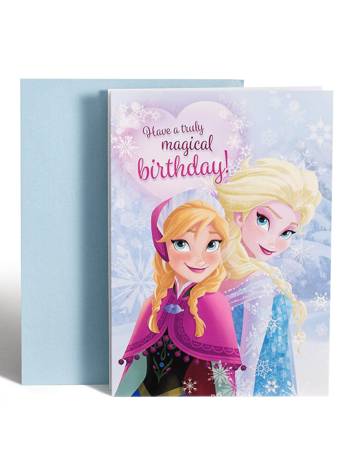Frozen Birthday Card With Dressup Tiara