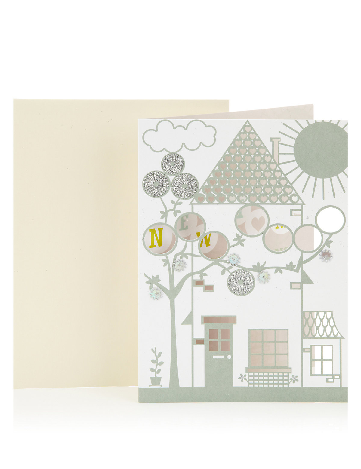 Die Cut New Home Greetings Card