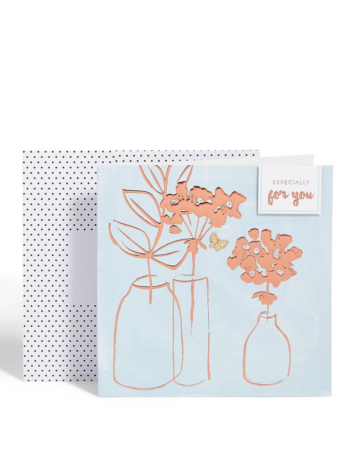 Bronze Vase Card
