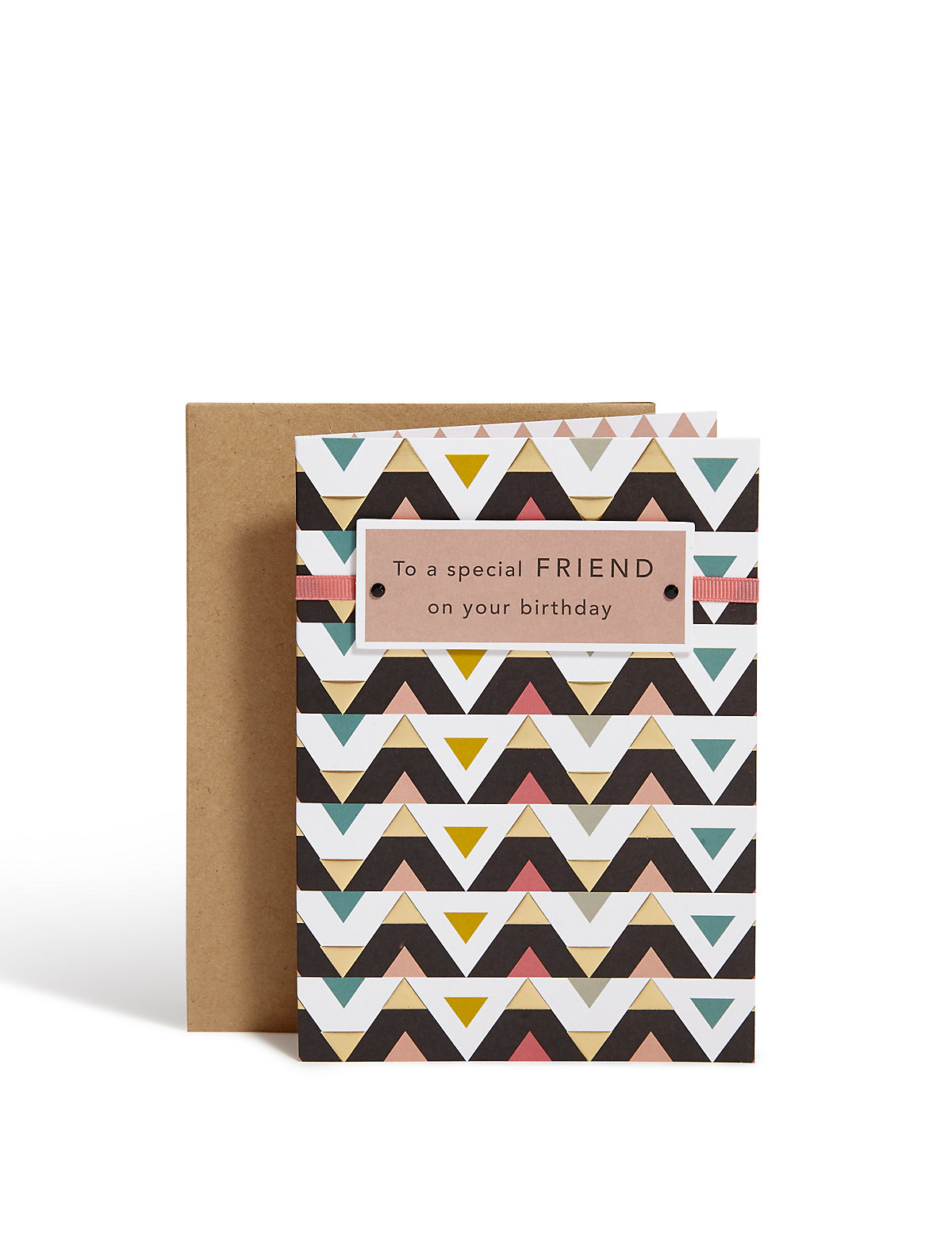 Embossed Pattern Birthday Card