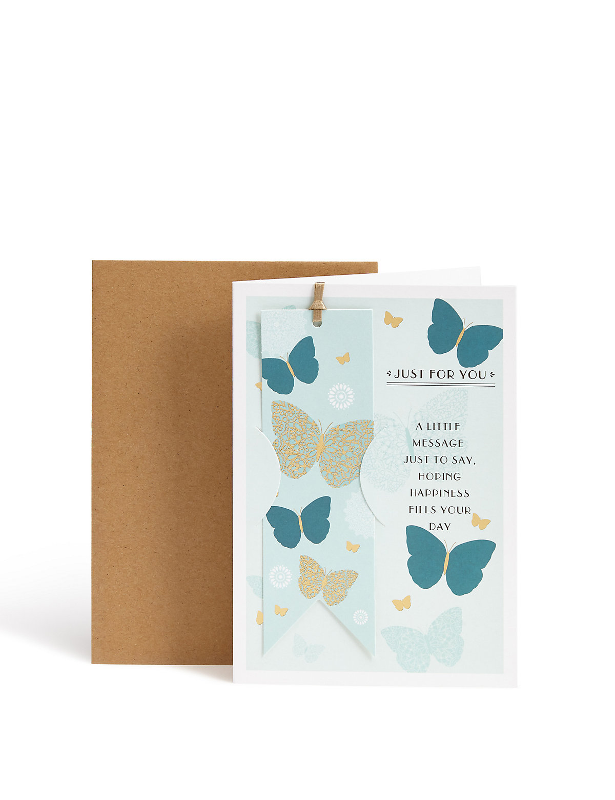 Butterfly Birthday Card with Keepsake Bookmark