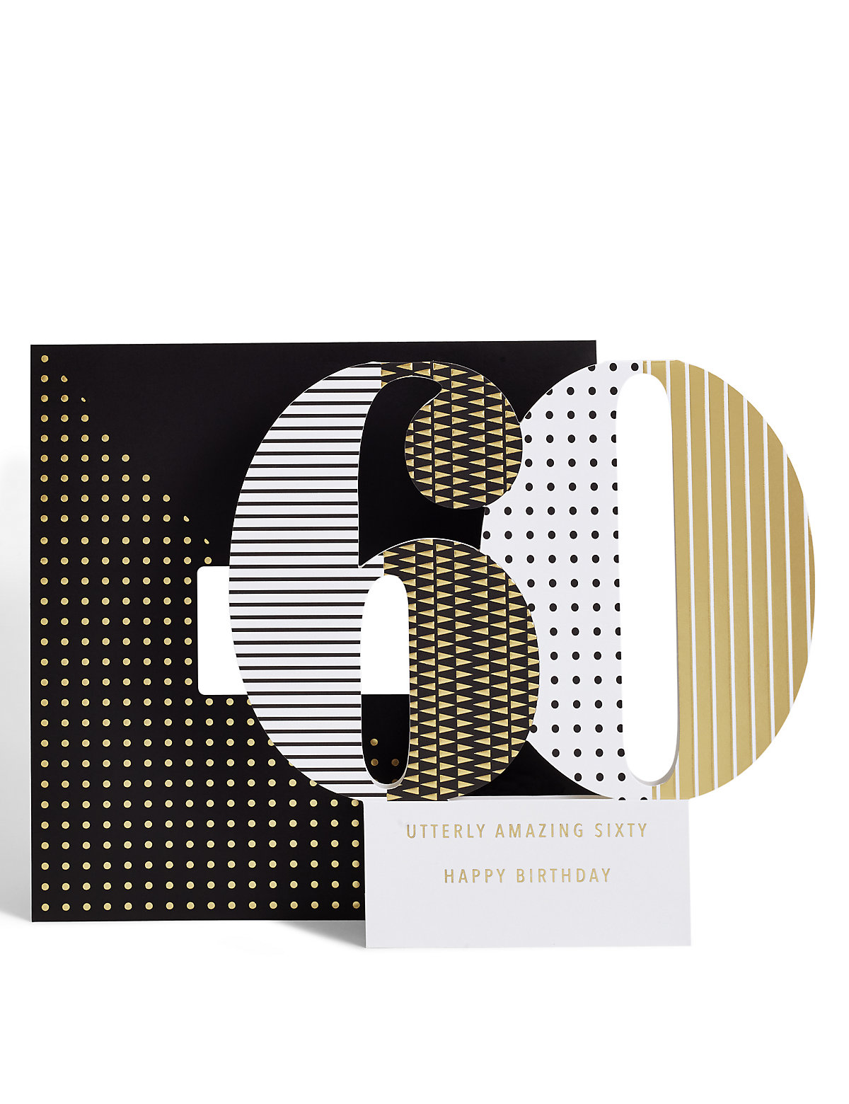 Age 60 3-D Pop up Birthday Card