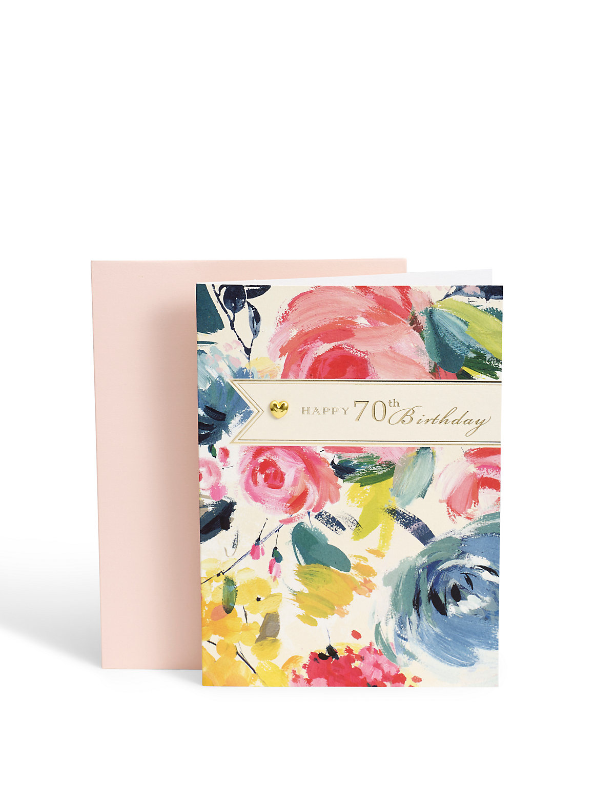 Floral 70th Birthday Card