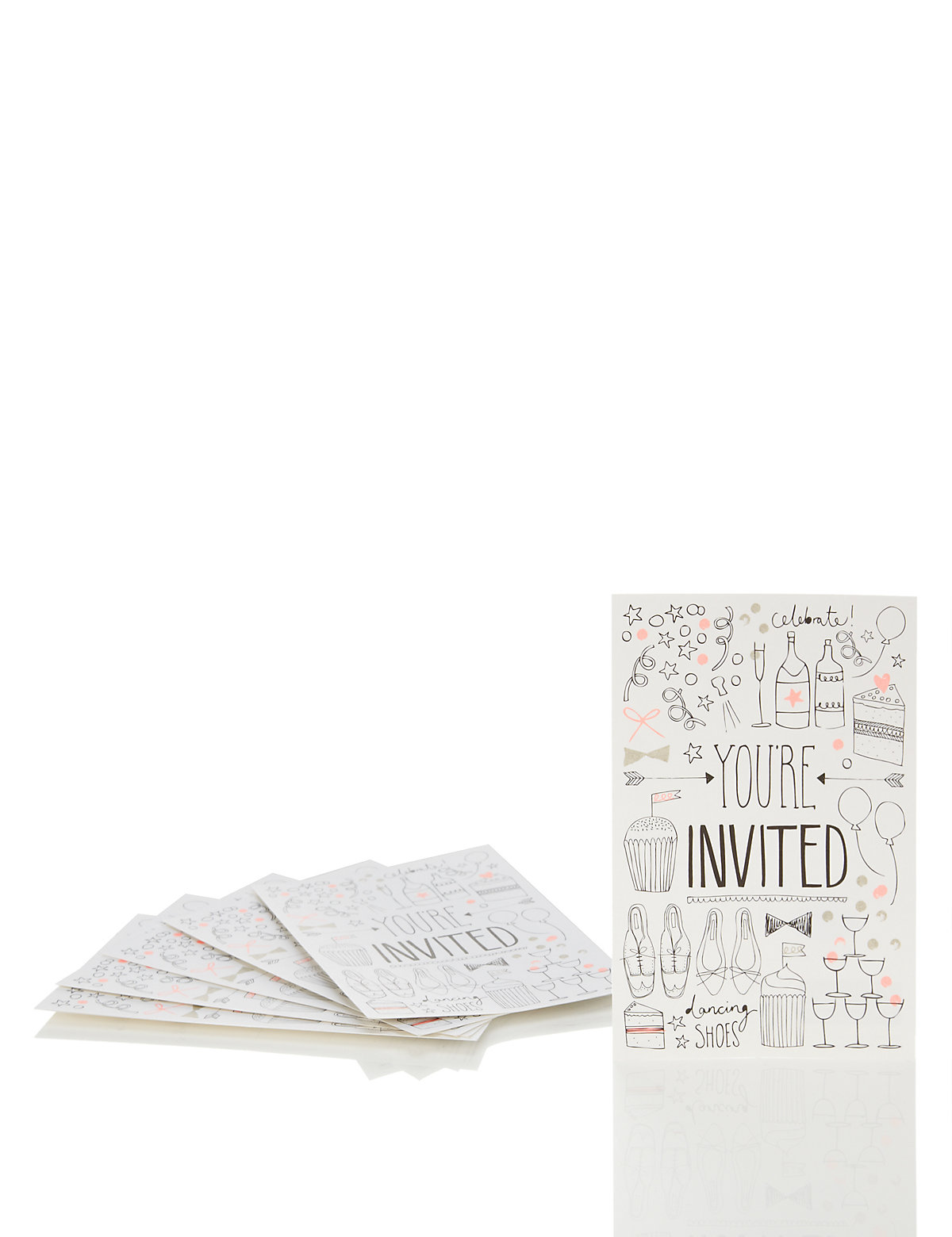 6 You're Invited Mini Cards
