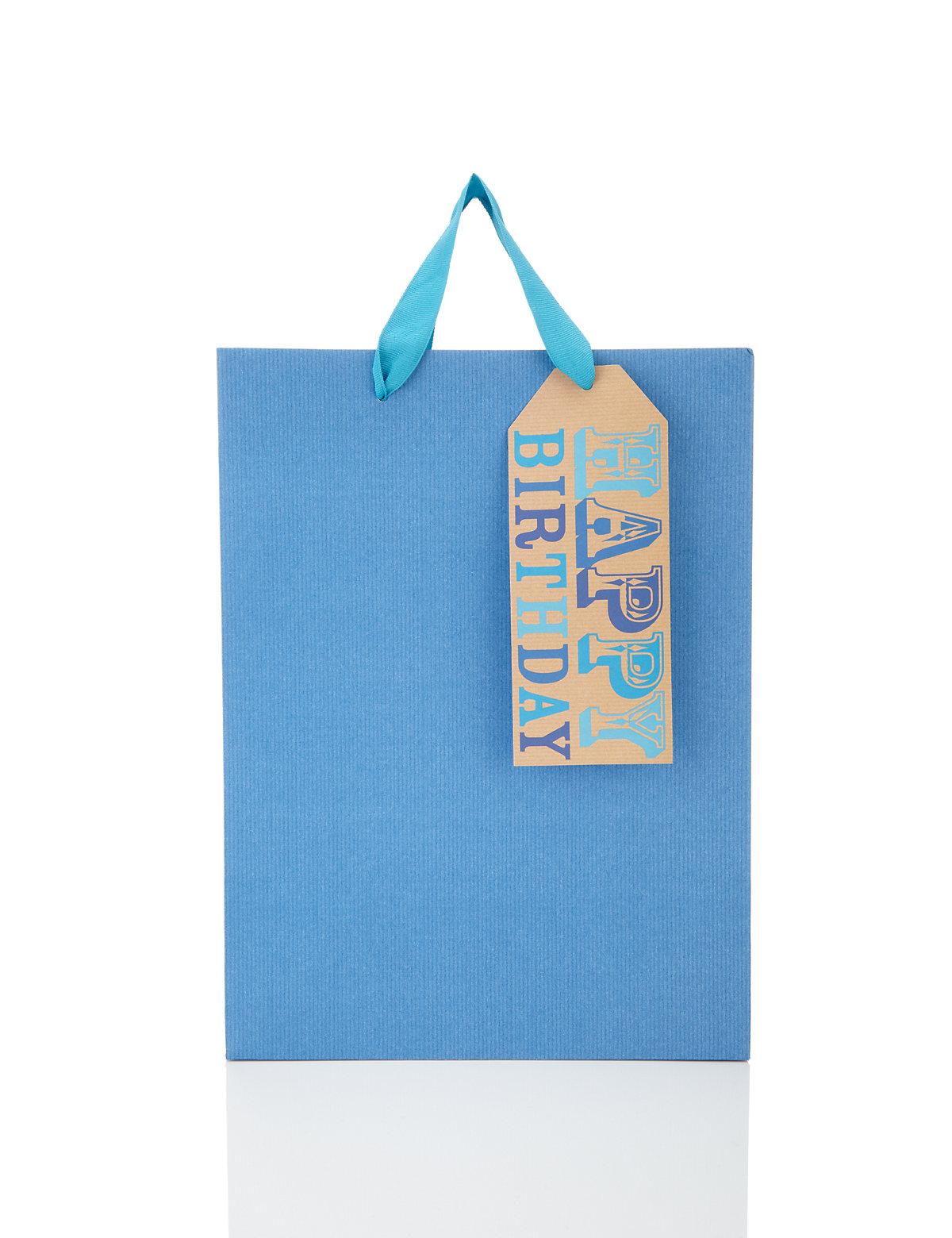 Large Blue Gift Bag