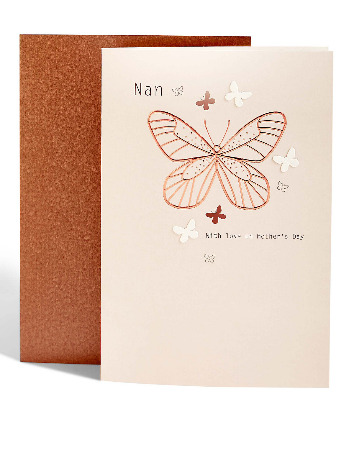 Nan Foil Butterfly Mother's Day Card