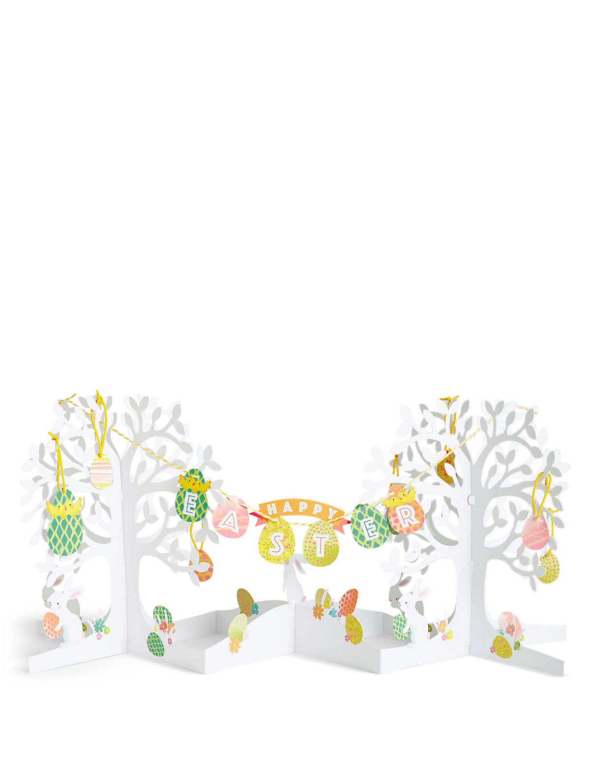 Popup Easter Tree Bunting Scene Card