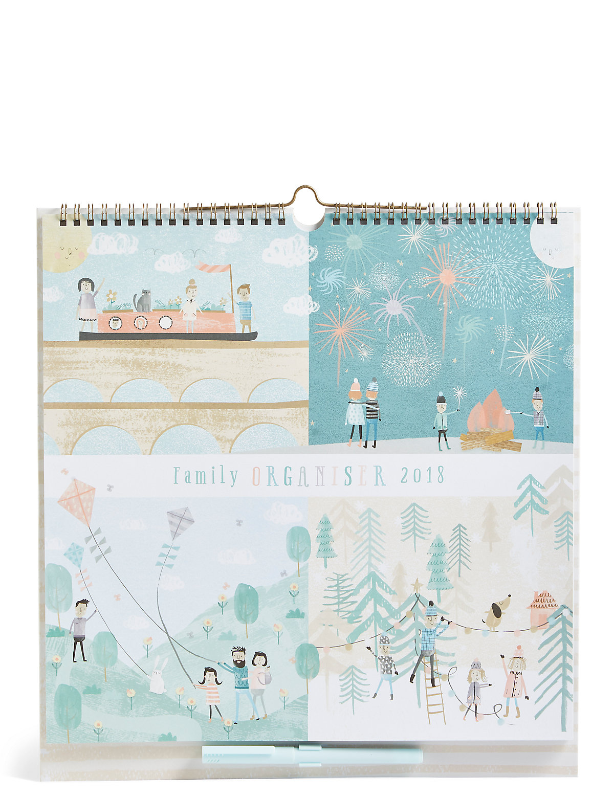 2018 Family Organiser with Pull-out Advent Calendar