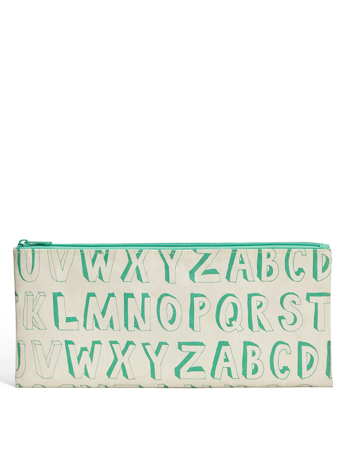 Boutique Green Alphabet Pencil Case