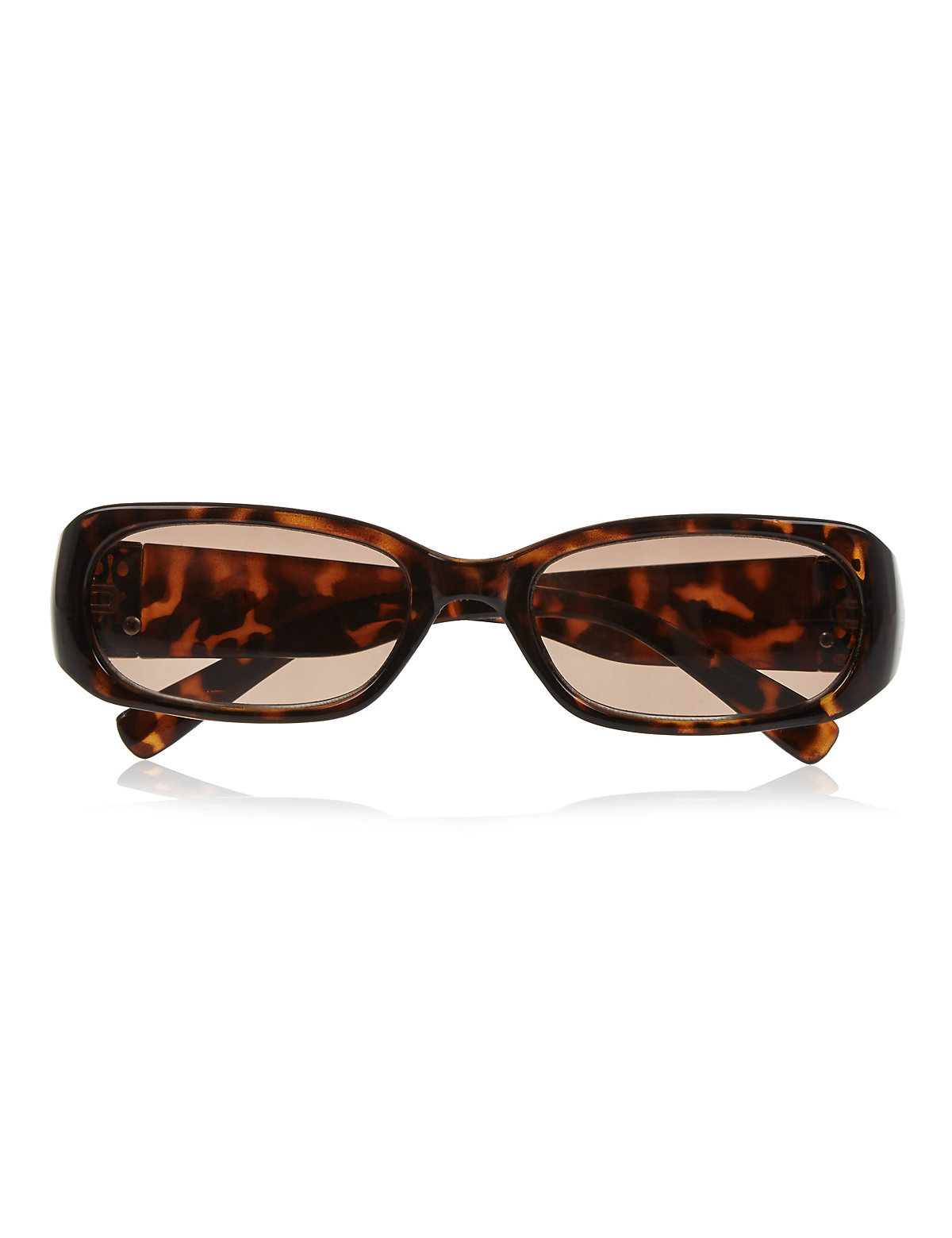 Large Mock Tortoiseshell Reading Sunglasses Brown 2