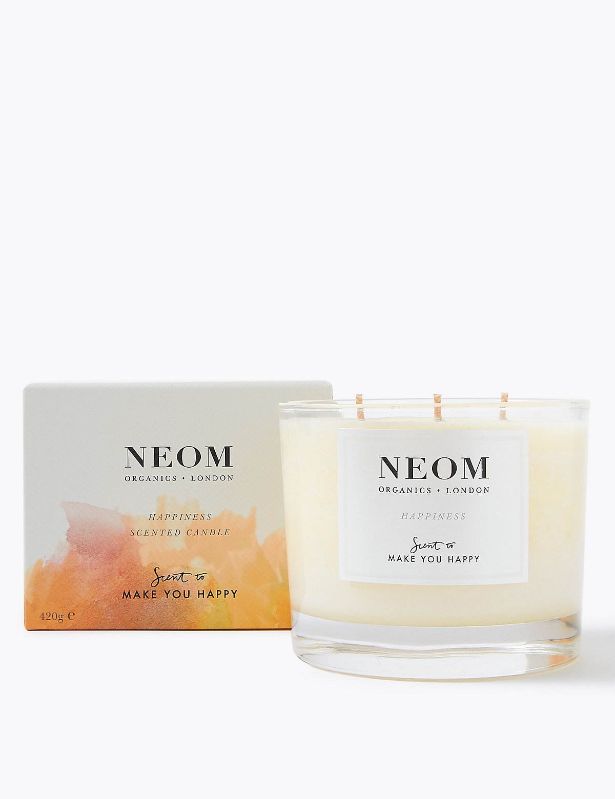 Neom Happiness 3 Wick Candle 420g