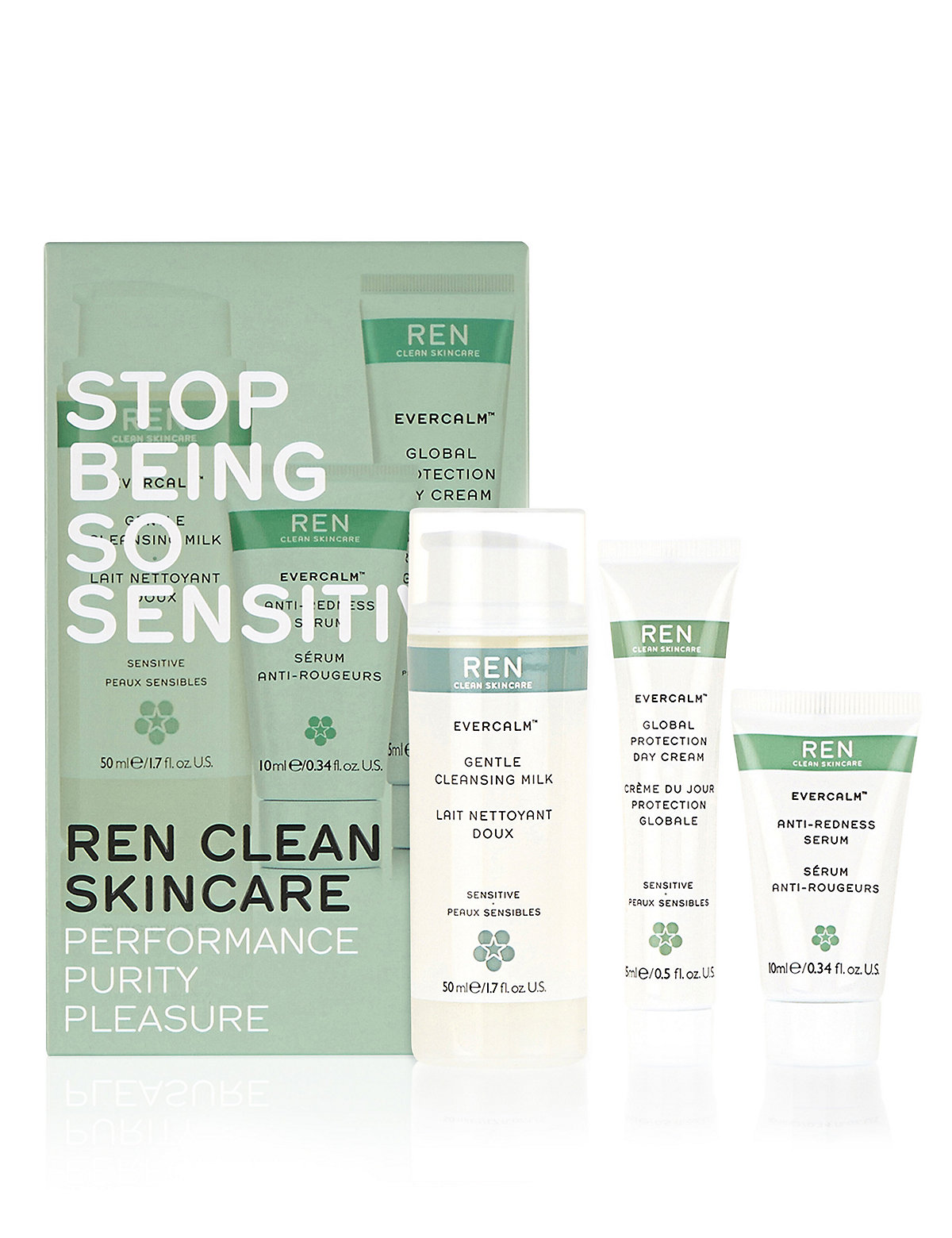 REN Stop Being So Sensitive Regime Kit Worth £22.00