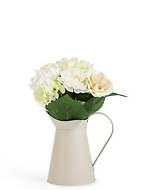 Small Bouquet in Tin Jug
