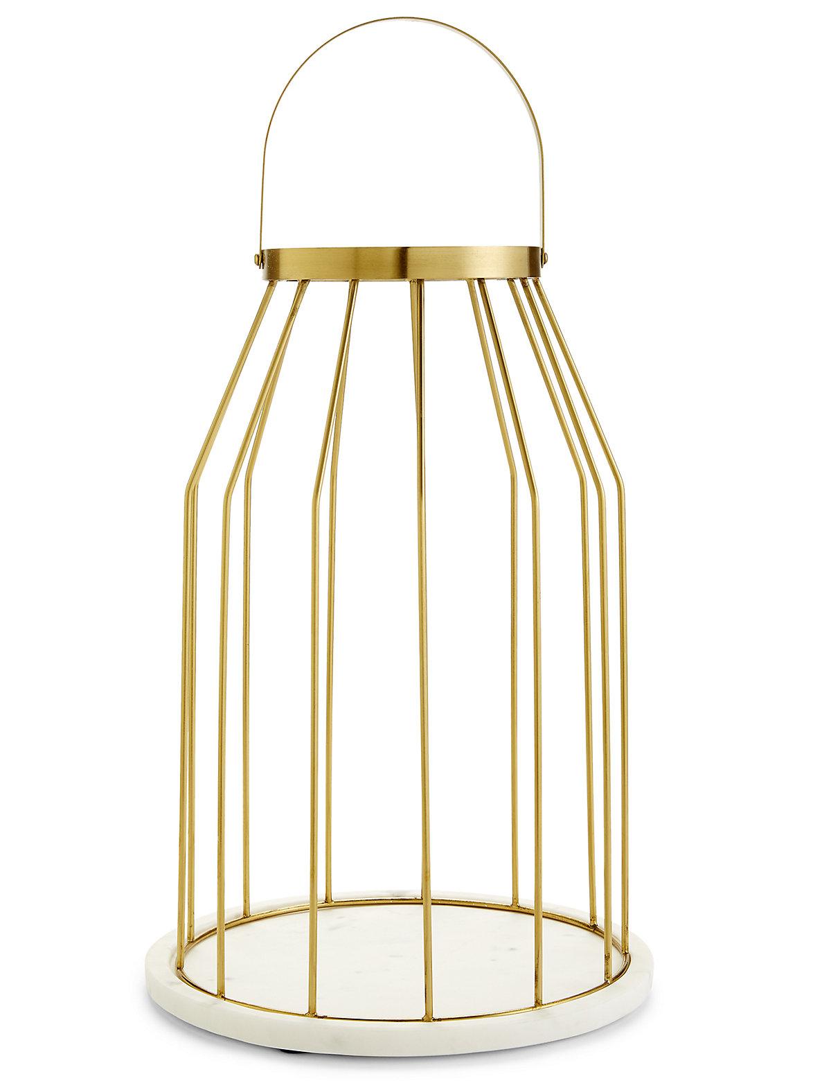 Conran Marble & Brass Lantern.