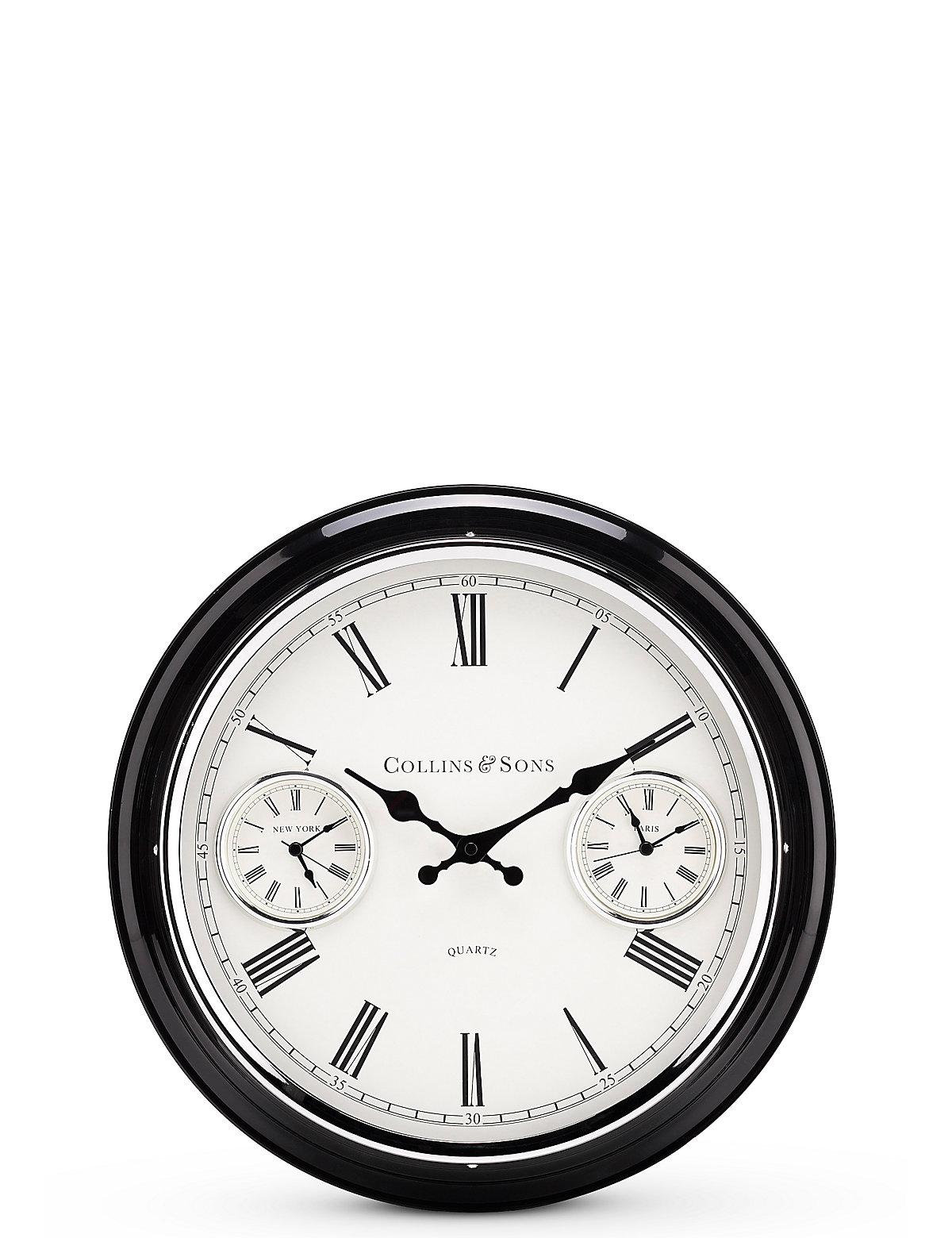 Medium 2 Dial Wall Clock