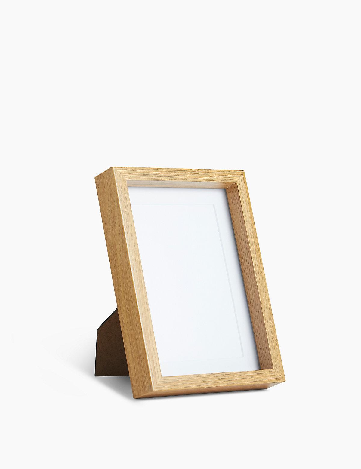 Wilko Photo Frame Oak and White Wood Effect 6 x 4in Wilko 10cm x photo frame