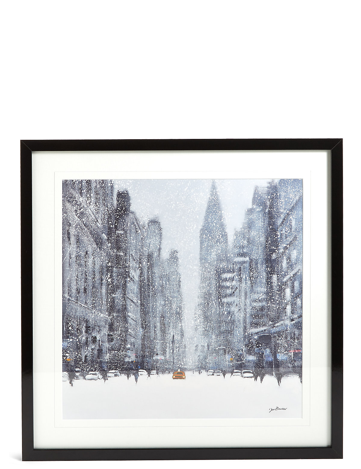 Jon Baker Snowy New York Wall Art