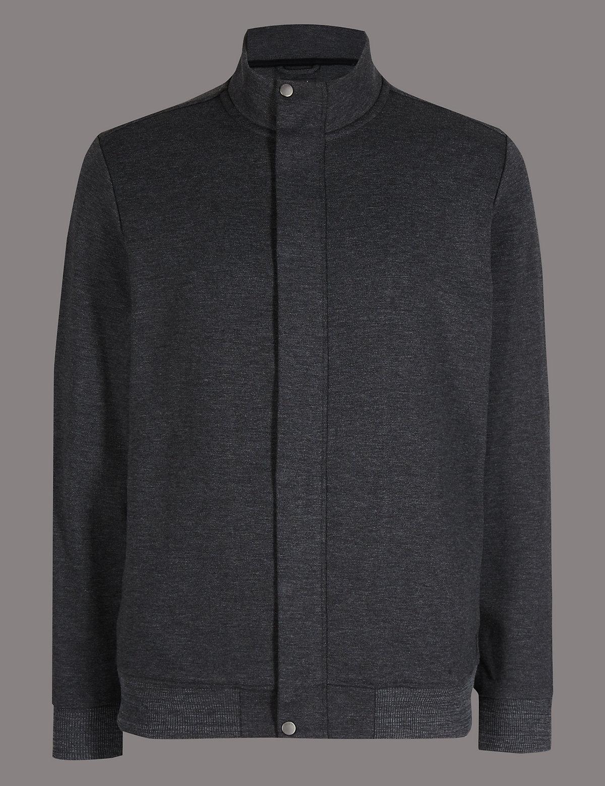 Autograph Cotton Rich Zipped Through Sweatshirt