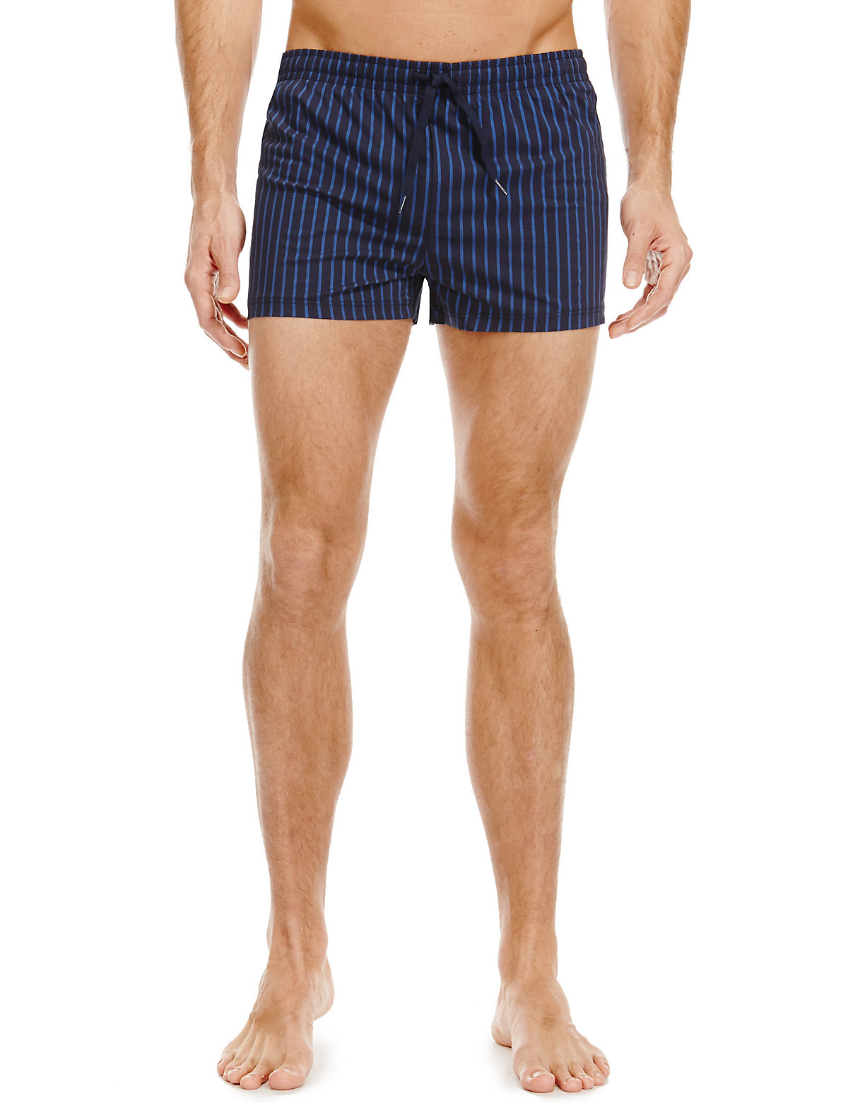 Blue Harbour Quick Dry Pinstriped Swim Shorts
