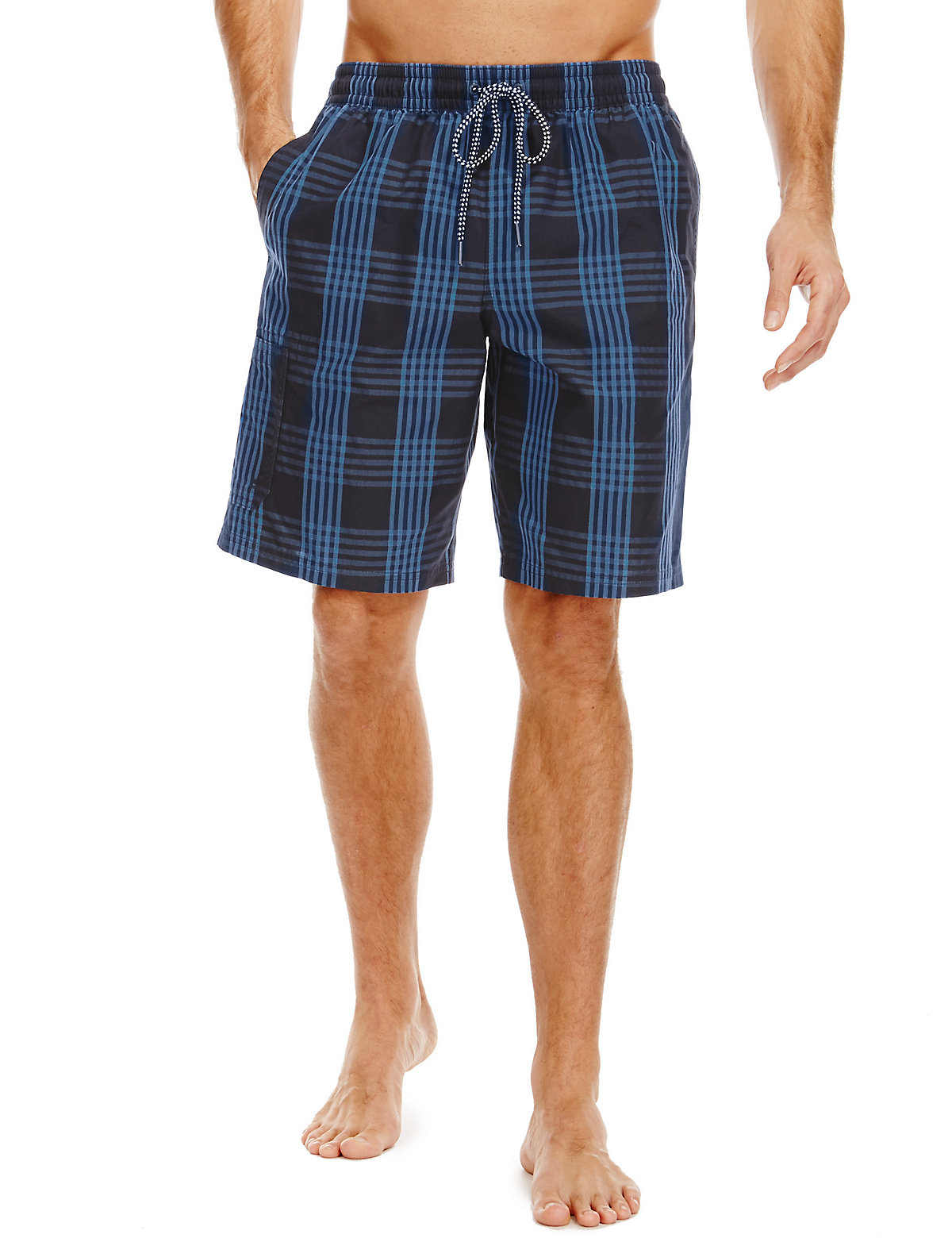 Blue Harbour Quick Dry Checked Swim Shorts