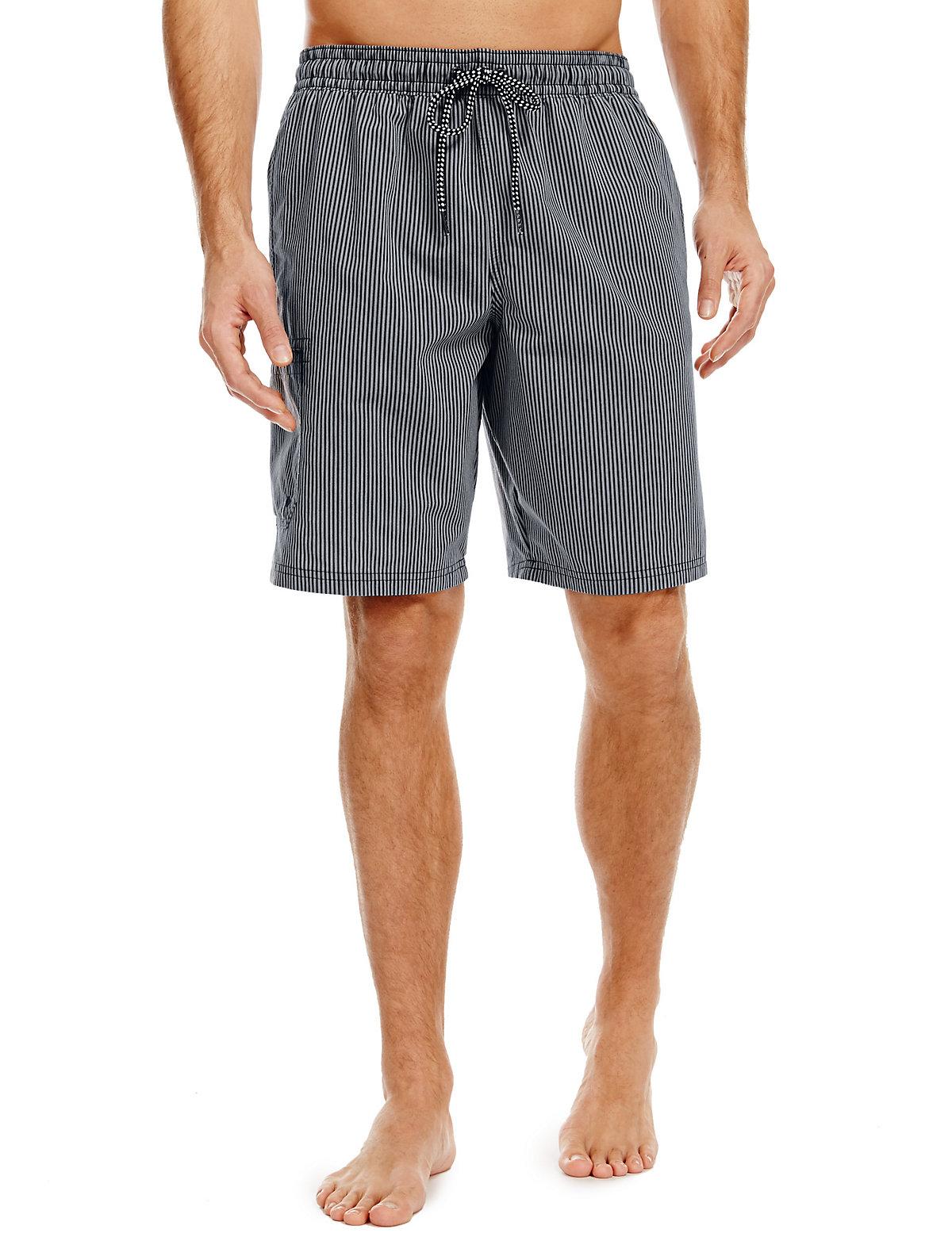 Blue Harbour Quick Dry Striped Swim Shorts