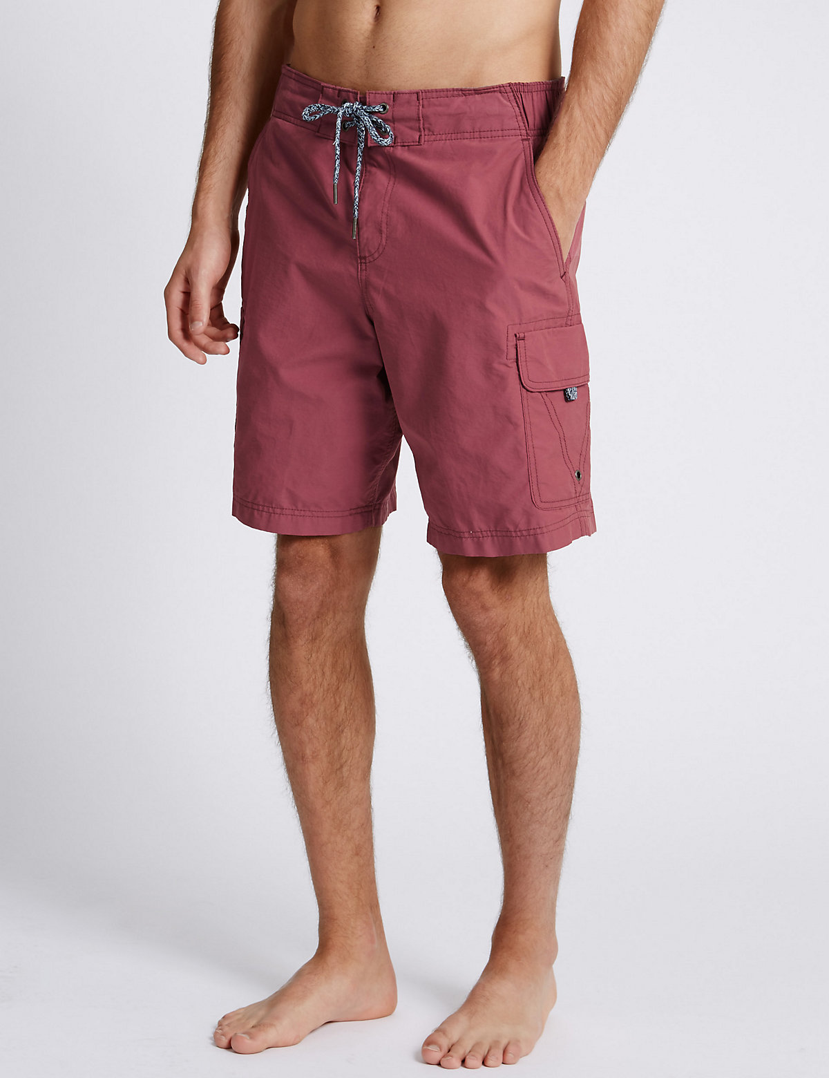 M&S Collection Cotton Rich Quick Dry Cargo Swim Shorts