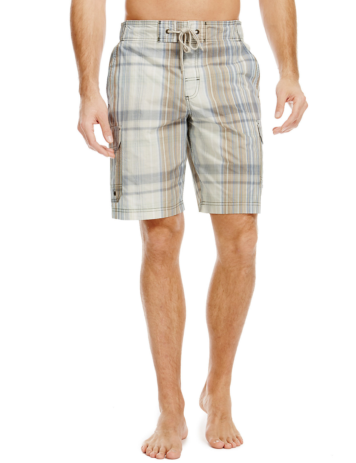 North Coast Quick Dry Checked Swim Shorts