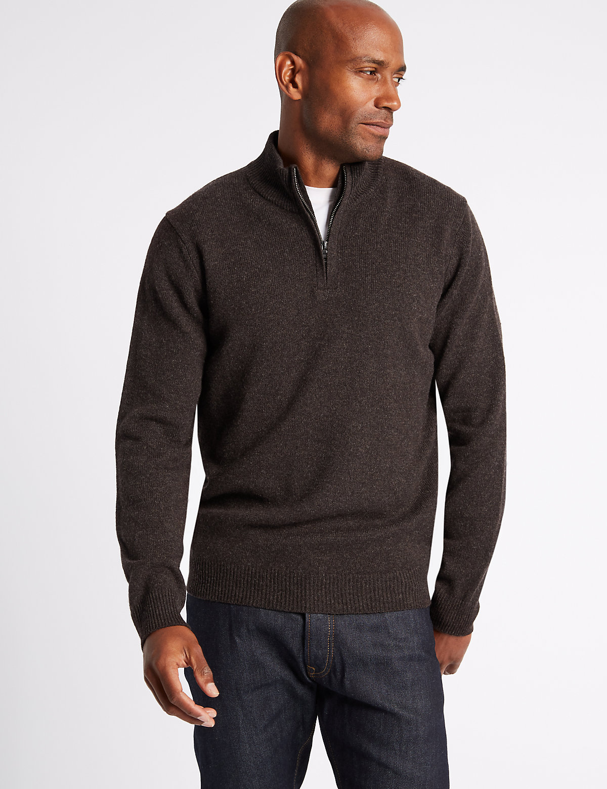 M&S Collection Pure Lambswool Textured Jumper