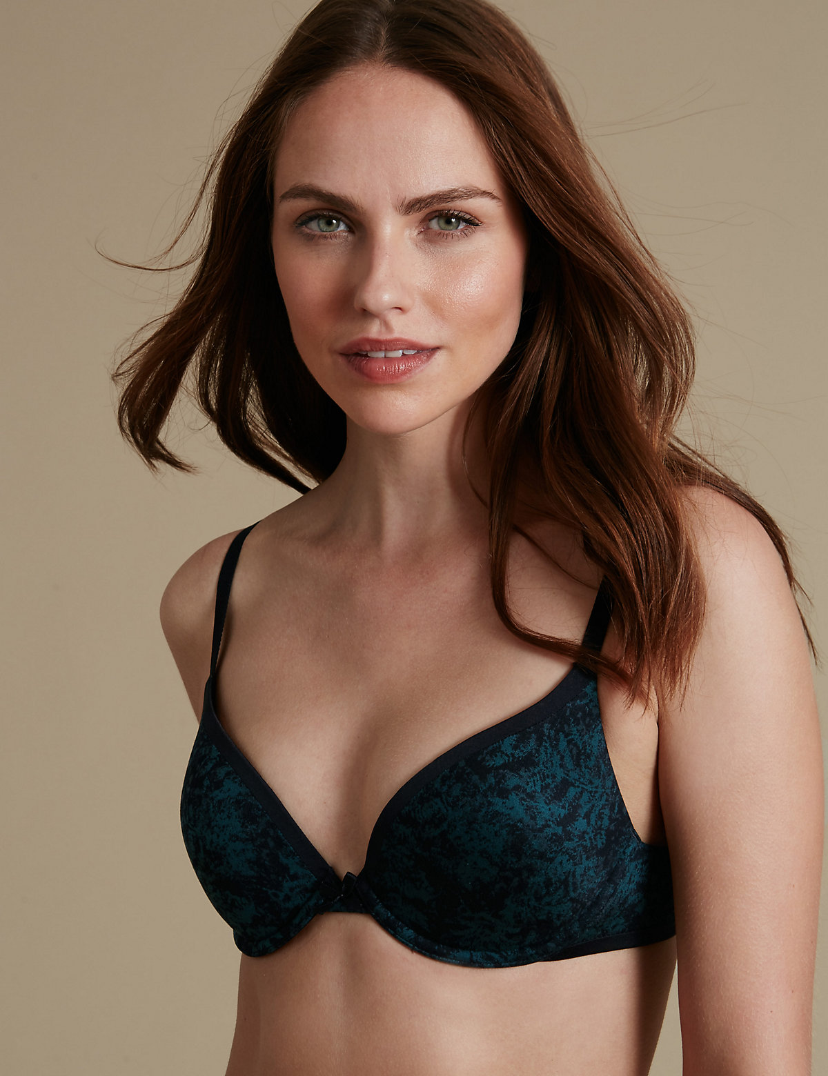 M&S Collection Sumptuously Soft Plunge T-Shirt Bra