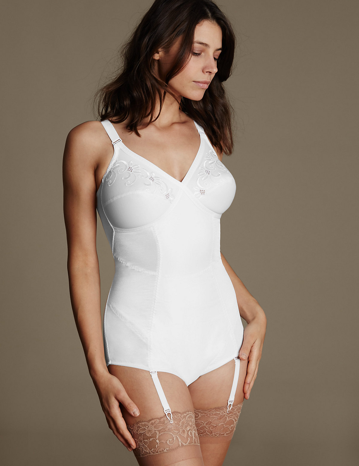MS Collection Firm Control Traditional Corselette Marks and Spencer P22100997