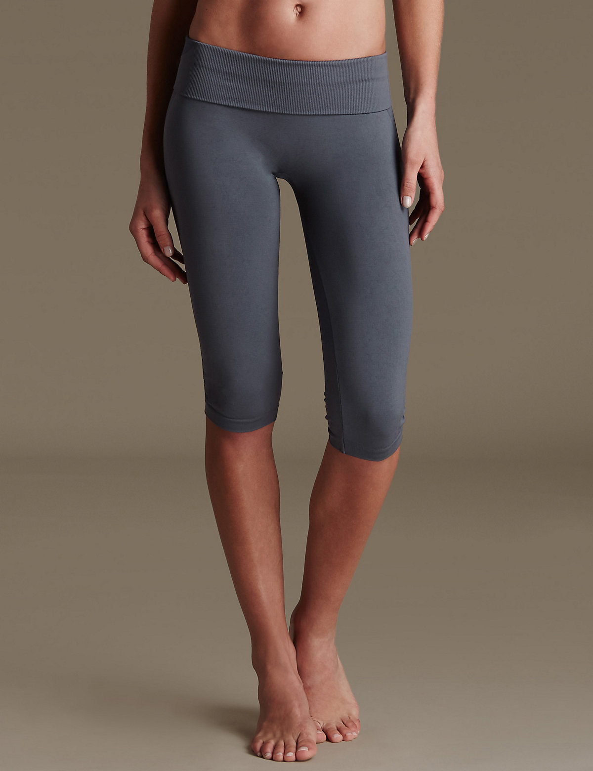 MS Collection Gym Slim Santoni Seamfree Cropped Leggings Marks and Spencer P22400627