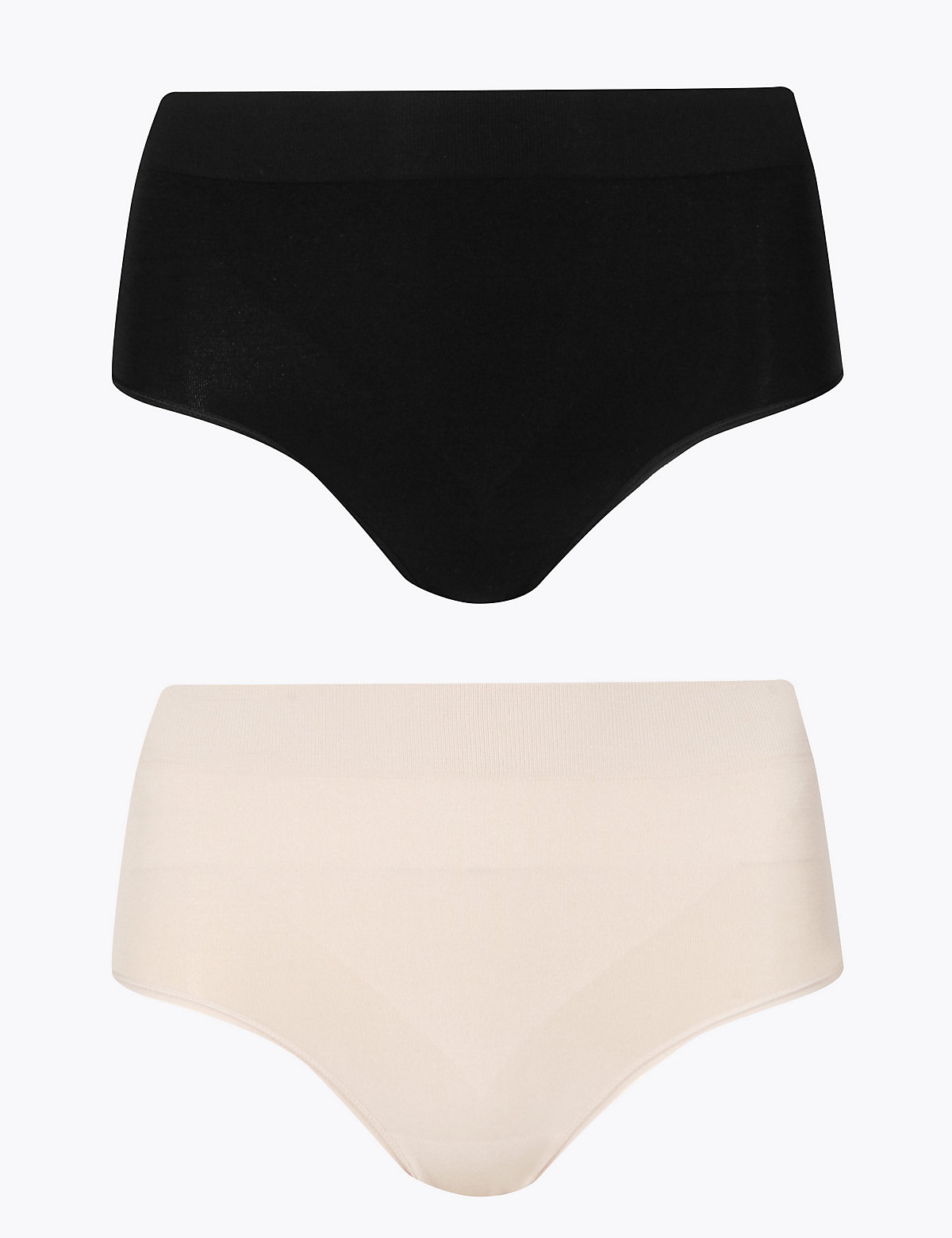 M&S Collection 2 Pack Light Control Santoni Seamfree High Leg Knickers