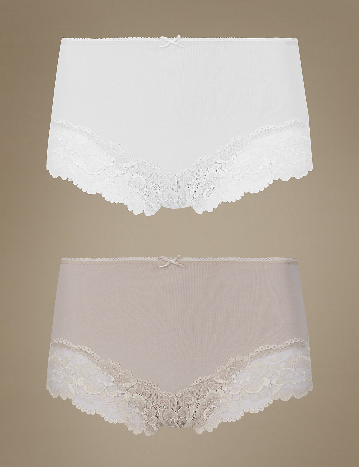 M&s Collection 2 Pack Secret Slimming Brazilian Knickers