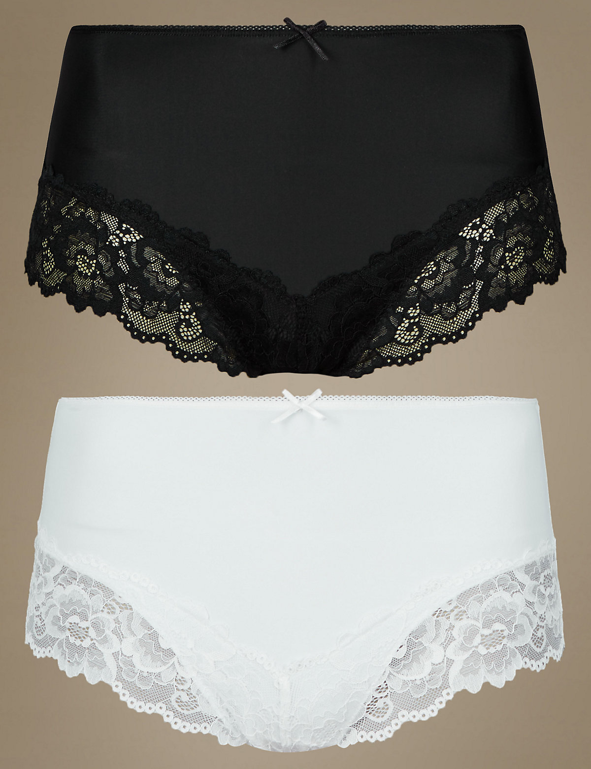 MS Collection 2 Pack Light Control Lace Brazilian Knickers Marks and Spencer P22361085