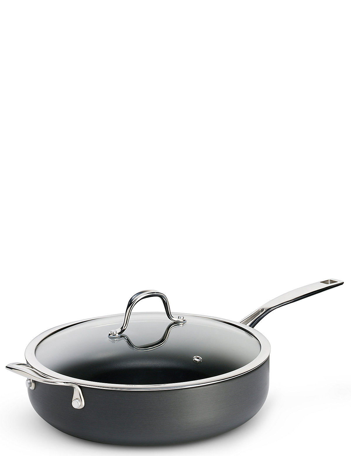 Image of M&S chef Chef Hard Anodised 28Cm Saute Pan