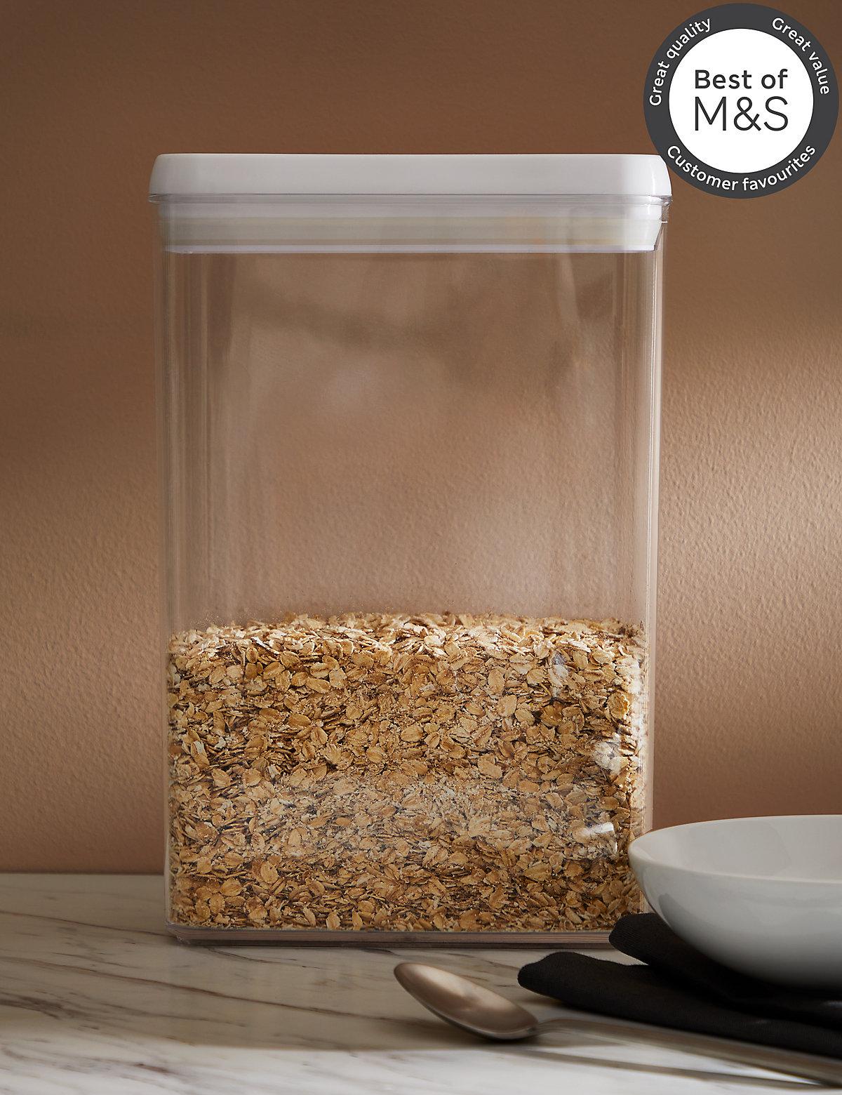 Large Rectangular Flip Tight Storage Jar